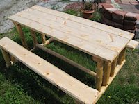 Cedar products cedar sawmill of vermont highgate vermont we make and sell quality rustic looking white cedar furniture such as our picnic tables double seated bench with or without a center table single chairs watchthetrailerfo